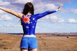 we as one australian flag